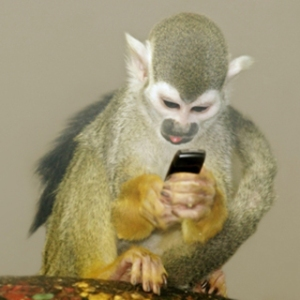 """Negotiating with Apple about his next """"spontaneous"""" selfie."""